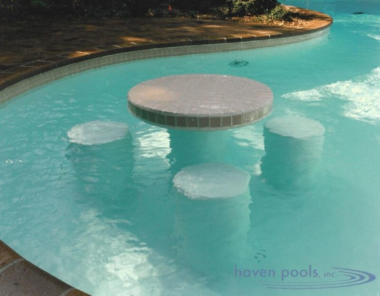 In Pool Amenities Dipping Into Something Special Haven Pools